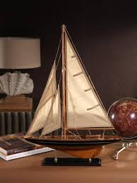 still actively sailing and racing today endeavour will take you away with the wind and waves in these limited edition model yachts