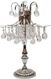 crystal asfour crystal ball table lamp silver