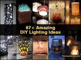 homemade lighting ideas. Interesting Homemade 67 Amazing Diy Lighting Ideas Homemade Outdoor Light Fixtures  Full Size To
