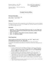 Example Of Engineering Resume Sample Professional Resume