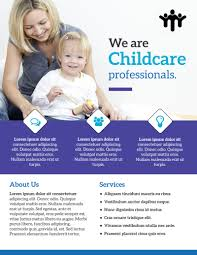 Child Care Brochure Daycare Template Samples Free Download