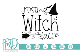 Svg stands for scalable vector graphic. Resting Witch Face Graphic By Morgan Day Designs Creative Fabrica