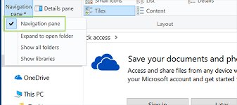 How to Hide the Navigation Pane in Windows 10 File Explorer