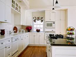 White Kitchen Dark Wood Floors White Kitchen With Dark Hardwood Flooring Perfect Home Design