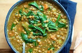 instant pot golden lentil spinach soup