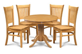 Bellingham Solid Wood 5 Piece Dining Set With Antville Table In Oak Finish