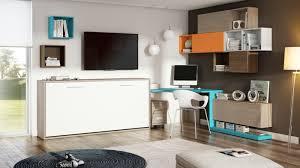 office wall furniture. Büroeinrichtunghome Modern Office Furniture Wall Shelf White Chest Blue Desk A