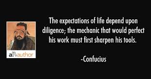 Mechanic Quotes Magnificent The Expectations Of Life Depend Upon Quote