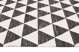 black and white geometric rug. colmar black \u0026 white geometric wool rug and r
