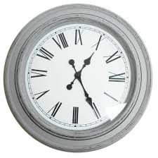 white grey 40cm or 60cm antique round dining room hallway wall clock gift