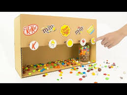 How To Make A Candy Vending Machine Out Of Cardboard Extraordinary How To Make Candy Dispenser Vending Machine From Cardboard Auclip