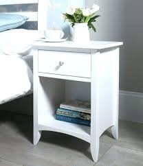 white circular bedside table gloss round side small size of bedroom modern cube with storage