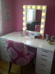 diy makeup vanity table. Stunning Makeup Vanity Table With Lights Diy Brilliant Setup For Your Room