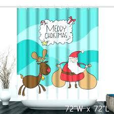 shower curtain set curtains cute merry and elk custom bedroom santa winter wonderland vintage waterp