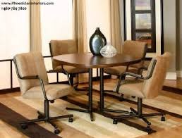 swivel tilt dining chairs on casters caster chair and table set 3 jpg