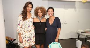 camila alves posing with two fellow moms at last week s target back to school event