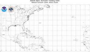 Hurricane Tracking Chart Noaa Atlantic Basin Hurricane Tracking Wall Map Hurricane