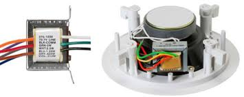 basics of distributed audio a 70v transformer alone and mounted to an 8ohm speaker