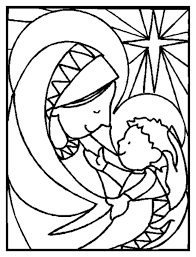 Religious Coloring Pages Jesus And Mary Coloringstar