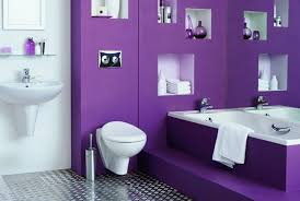 Well, we'd never seen a purple bathroom before.