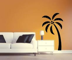 silhouette wall decals palm tree wall decal palm tree silhouette vinyl wall  sticker palm tree wall . silhouette wall decals ...