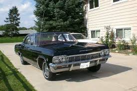 antique classic vehicle 1965 black 4 door carry all 283 chevy impala antique classic black