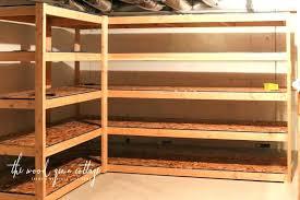 basement storage shelves build homemade basement storage shelves shelving by the wood grain cottage build homemade