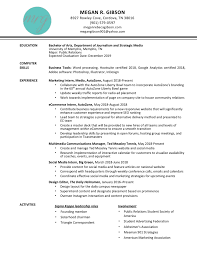 Correspondent Resume Interesting Resume Megan Gibson