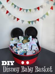 create a mickey inspired disney baby basket