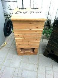 wooden dog toy box pet storage by personalised crate large delta