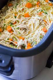 slow cooker en noodle soup