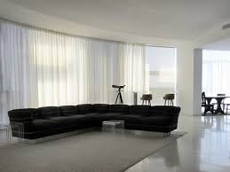 Electronic sheer curtains modern-living-room