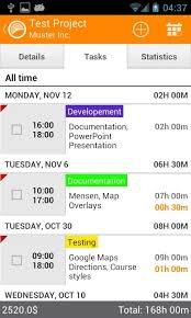 Timesheet Time Tracker Android Track And Record Time Spent Working With Timesheet Time