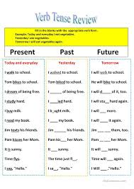 Past Present And Future Tense Worksheets Free Worksheets Library ...