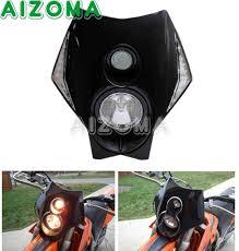 Đen H3/55W Tắt Xe Máy Đường Trường Dual Thể Thao Halogen & LED Vision Đèn  Pha W/LED Tín Hiệu cho Kawasaki Đa Năng 