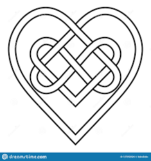 Celtic Design Love Celtic Knot Rune Bound Hearts Infinity Vector Symbol Sign Of