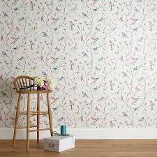 ... Buy John Lewis Hummingbird Trees Wallpaper, Multi Online at  johnlewis.com ...