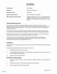 55 Cnc Lathe Operator Resume Wwwauto Albuminfo