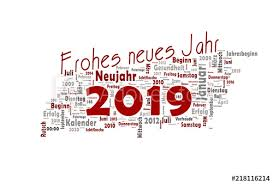 2019 Viel Glück Happy New Year - Buy this stock illustration and ...