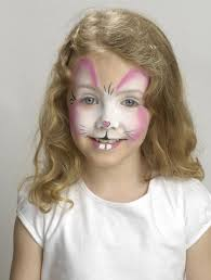Small Picture Easter bunny face paint Rabbit face paint for the teeth