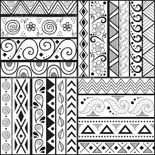 patterns to draw on graph paper best paper for zentangle black marker mandala on polar graph paper o