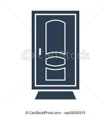 door icon on white background csp55050319