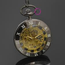 online buy whole antique mens gold pocket watch from whole gold mechanical pocket watch men skeleton steampunk man fob watches r antique vintage retro stylish