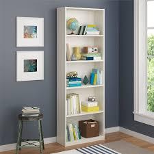Living Room Display Furniture White 5 Shelf Vertical Bookcase Storage Display Furniture Home