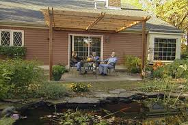 how to build a pergola that s attached to a house and over a patio ron hazelton