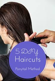 5 diy haircuts ponytail method