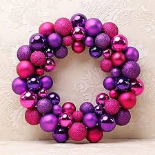 Purple Balls For Decoration Mesmerizing UNIVERSAL Christmas Colorful Balls Wreath Door Wall Ornament