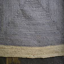 rustic 100 jute rectangle grey beige bordered braided rug