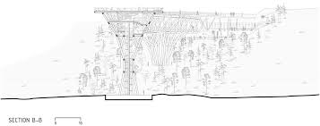 architectural drawings of bridges. Plain Bridges Section Bb Of Tabiat Bridge By Diba Tensile Architecture In Tehran Iran With Architectural Drawings Of Bridges