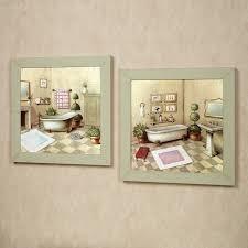 vintage bathroom wall decor. Accessories For Bathroom Decoration Using Vintage Retro Painting Funny Wall Decor. Decor ,
